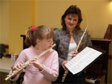 Flute lessons with a pupil